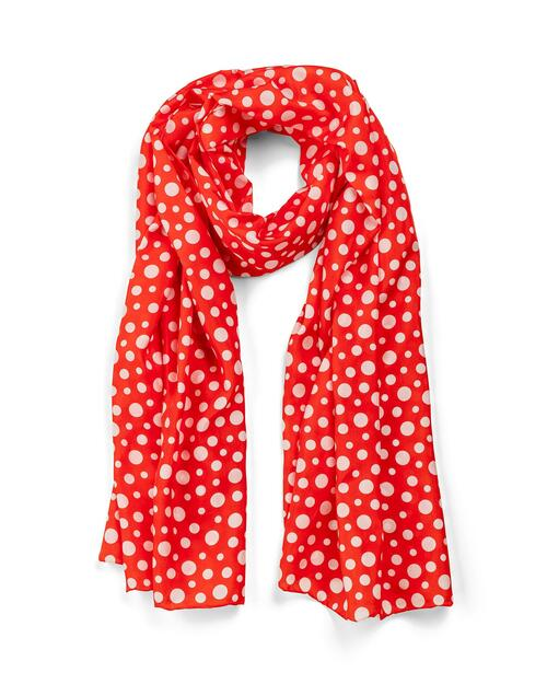 Yayoi Kusama Red with White Dots Scarf View Product Image