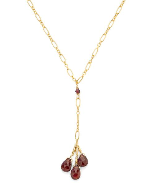 Garnet Drop Necklace View Product Image