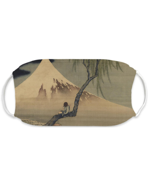 Boy and Mount Fuji Adult Mask View Product Image