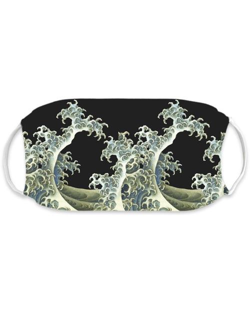 Hokusai Wave Adult Mask View Product Image