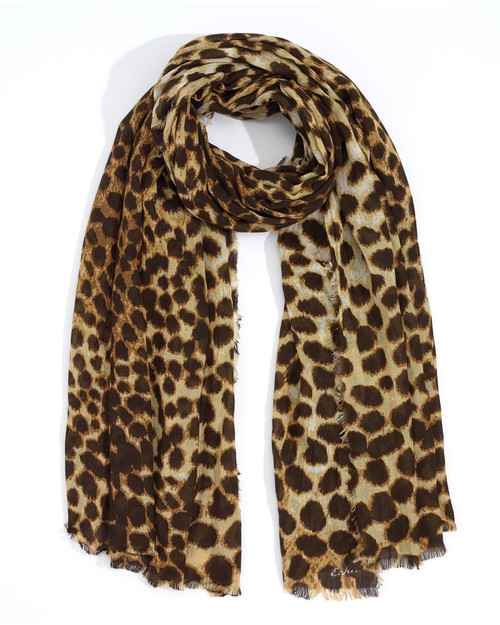 Oatmeal Cheetah Scarf View Product Image