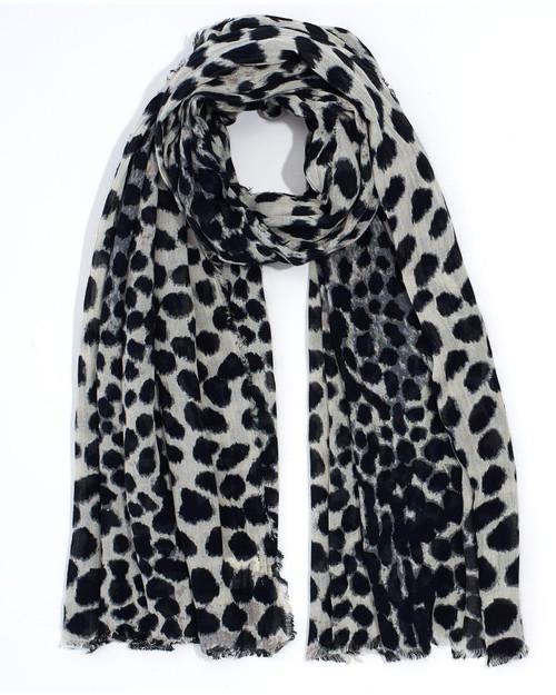 Black Cheetah Scarf View Product Image