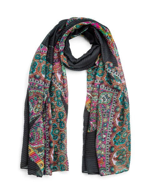 Paisley Butterfly Print Scarf View Product Image