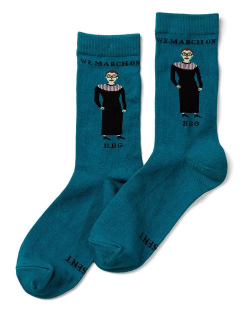"Ruth Bader Ginsburg ""I Dissent"" Socks View Product Image"
