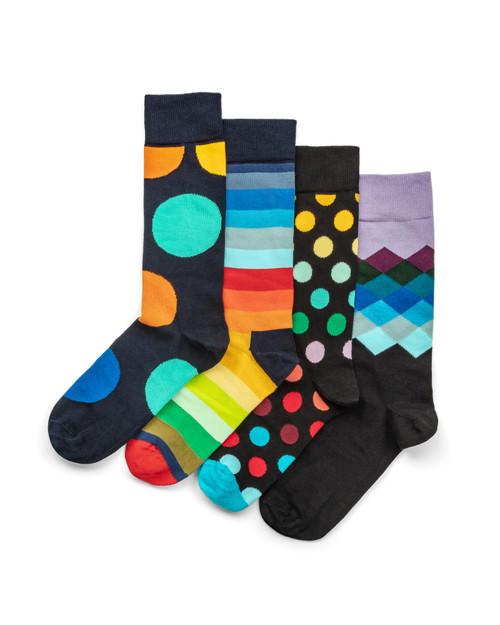 Men's Classic Multi-Color Socks - Four Pair View Product Image
