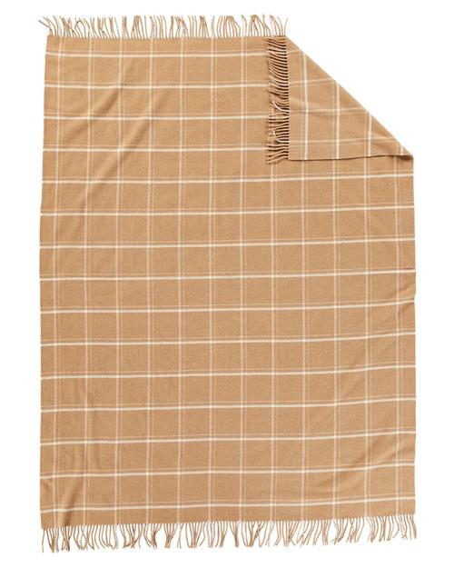 Pendleton Camel Windowpane Throw View Product Image
