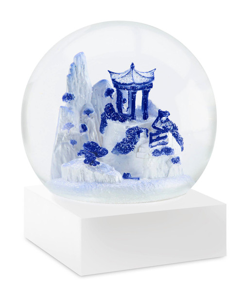 Blue Willow Snowglobe View Product Image