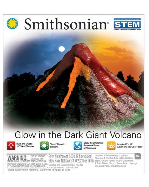 Smithsonian Glow in the Dark Giant Volcano Kit View Product Image