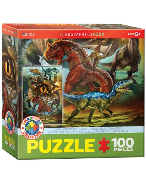 Carnivorous Dinosaurs Jigsaw Puzzle View Product Image