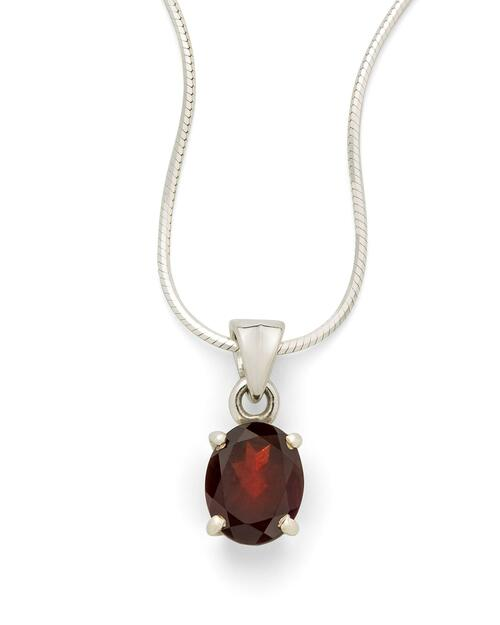 Garnet Pendant Necklace View Product Image