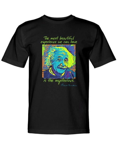 Einstein Neon Sketch T-Shirt View Product Image