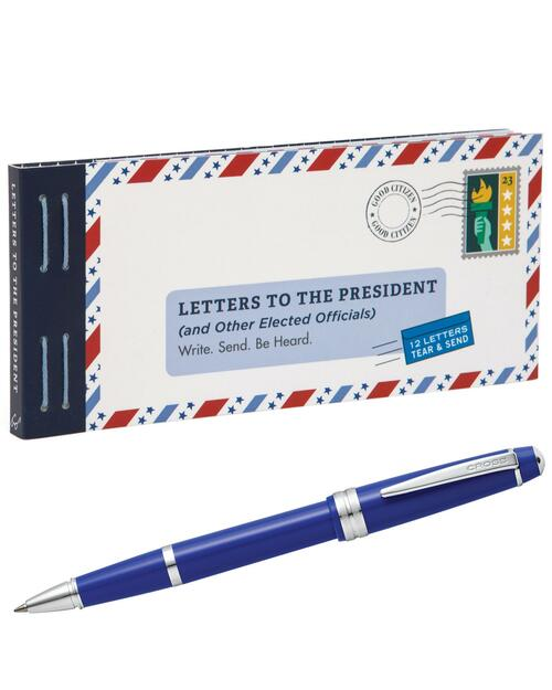 Letters to the President & Cross Blue Pen View Product Image