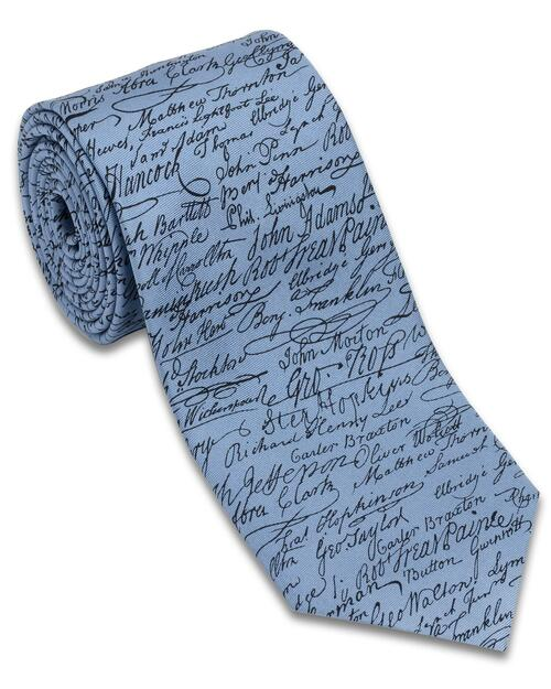 Declaration of Independence Signers Tie View Product Image