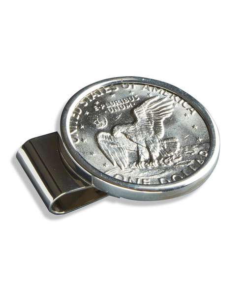 Sterling Silver Eisenhower Dollar Money Clip View Product Image