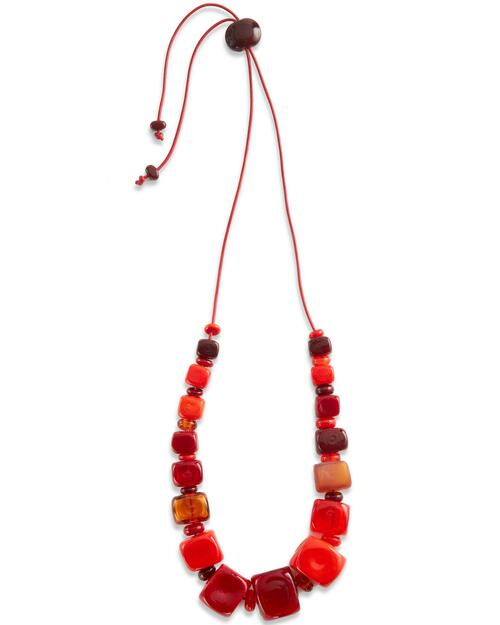 Chunky Glass Cube Necklace View Product Image