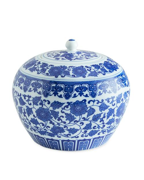 Blue and White Floral Vine Jar View Product Image