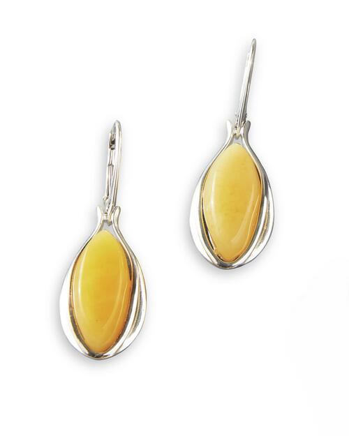 Butterscotch Baltic Amber Pierced Earrings View Product Image