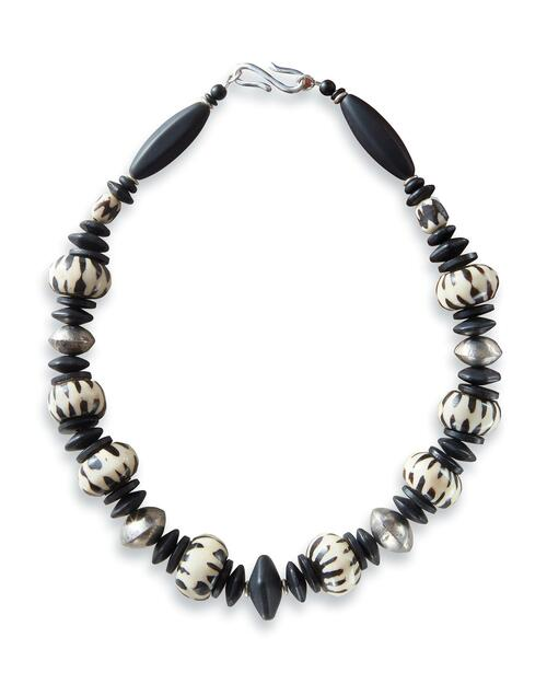 African Black and White Necklace View Product Image