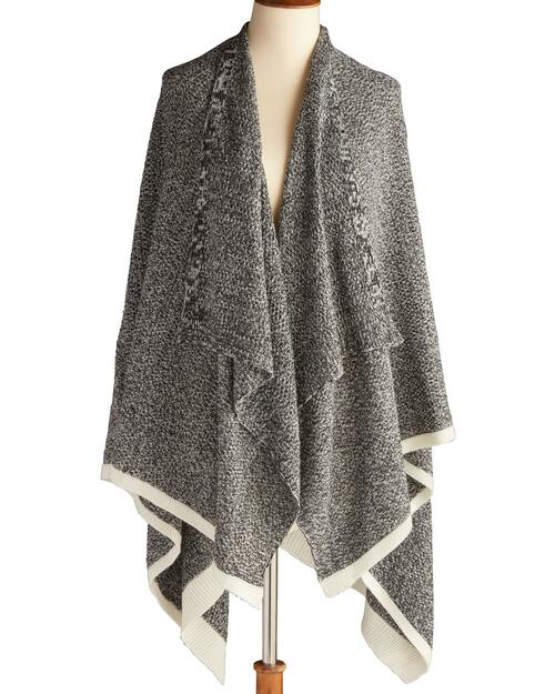 Triple-Style Black Marled Travel Wrap View Product Image