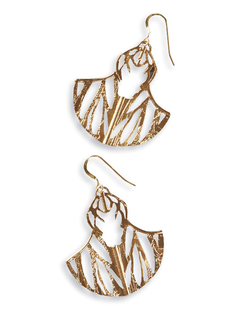 Ultrasonic Flight Etched Cutout Earrings View Product Image