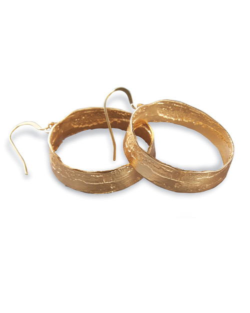 Poetic Etched Hoop Earrings View Product Image