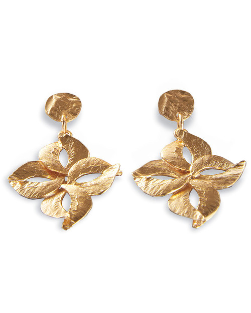 Blossom Reticulated Drop Earrings View Product Image