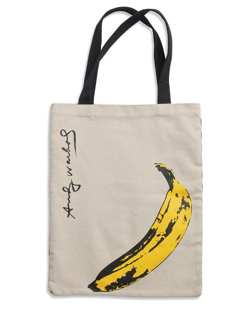 Andy Warhol Banana Tote Bag View Product Image