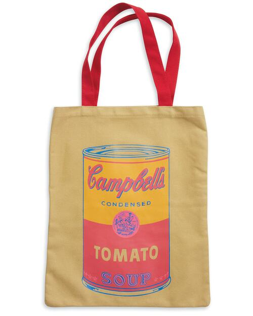 Andy Warhol Campbell's Soup Tote Bag View Product Image