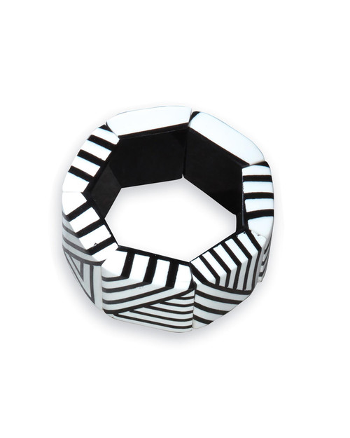 Abstract Black and White Bracelet View Product Image