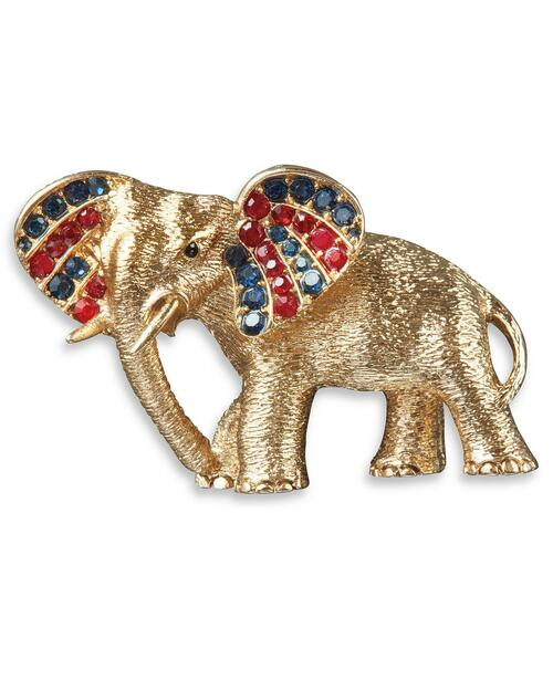 Golden Elephant Pin View Product Image