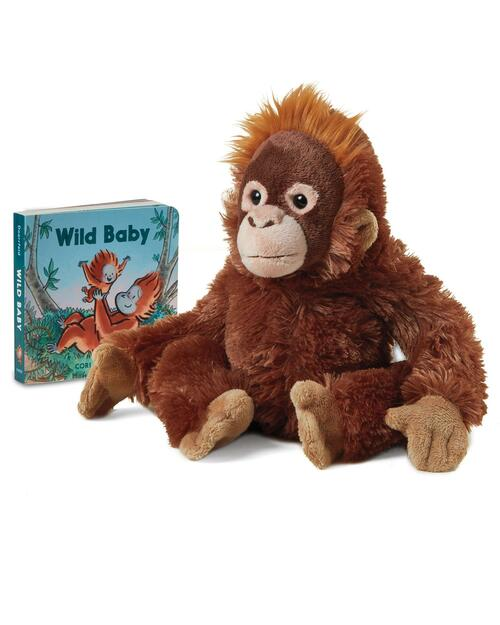 10-Inch Plush Orangutan Baby and Wild Baby Board Book View Product Image