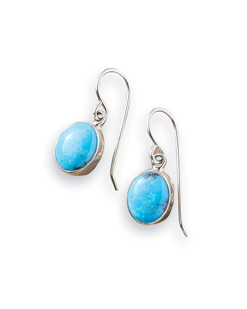 Navajo Turquoise Drop Earrings View Product Image