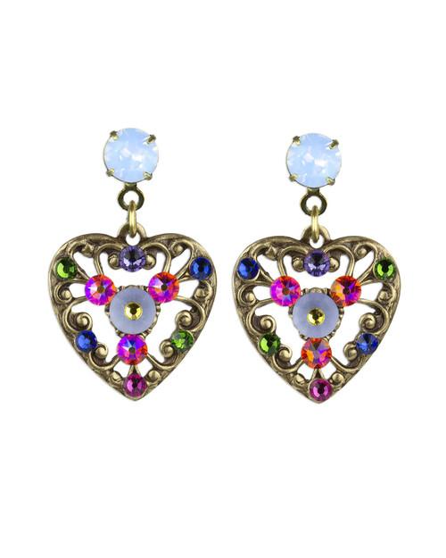 Filigree Garden Heart Pierced Earrings View Product Image