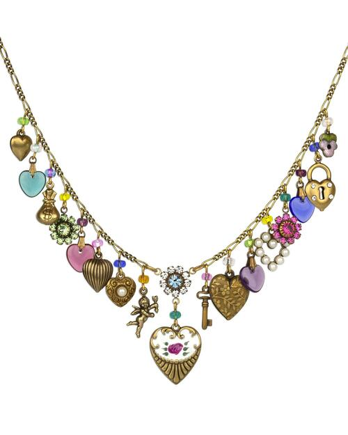 Spring Classic Heart and Charm Necklace View Product Image