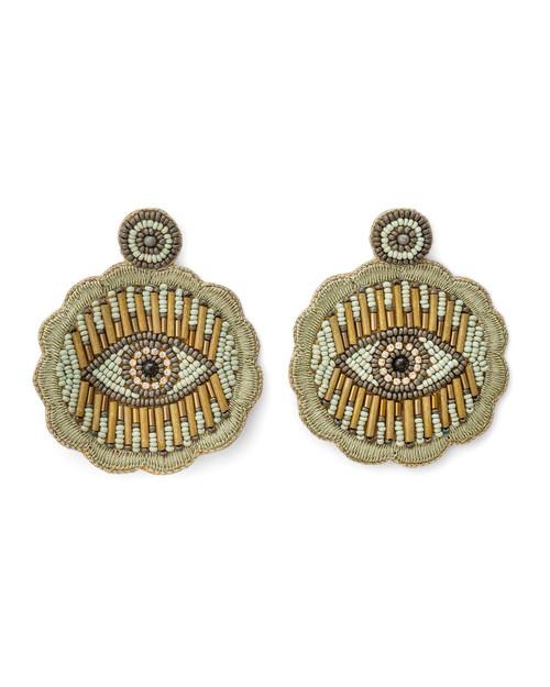 Eye Symbol Beaded Earrings View Product Image