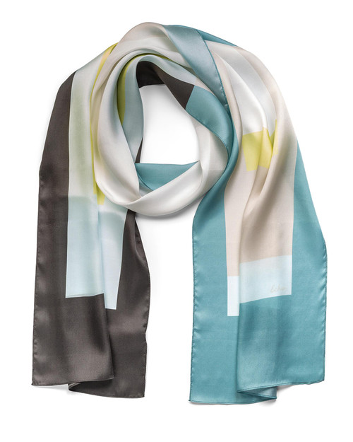 Colorful Silk Scarf View Product Image