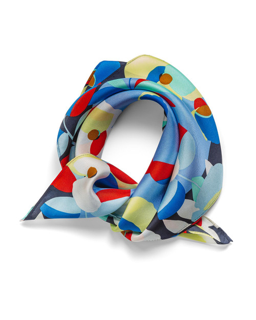 Floral Silk Square Scarf View Product Image