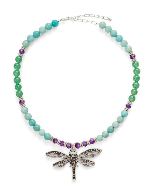 Dragonfly Gemstones Necklace View Product Image