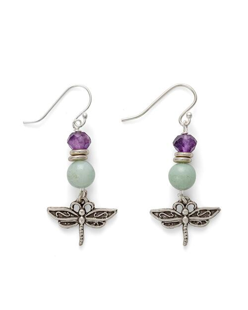 Dragonfly Gemstones Earrings View Product Image