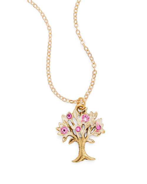 Golden Cherry Tree Necklace View Product Image