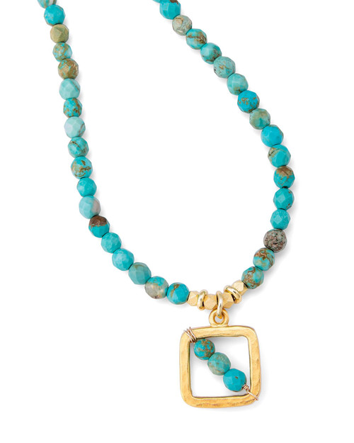 Turquoise Beaded Necklace View Product Image