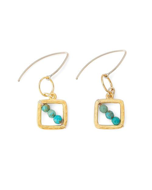 Turquoise Beaded Earrings View Product Image