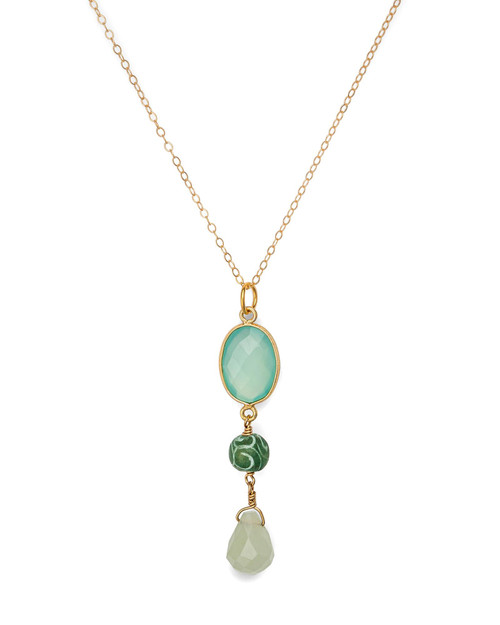 Chalcedony Pendant Necklace View Product Image