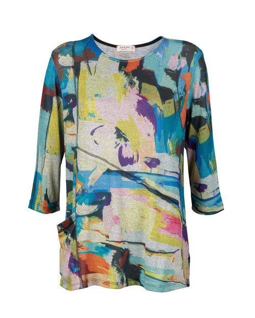 Multicolored Print Tunic View Product Image