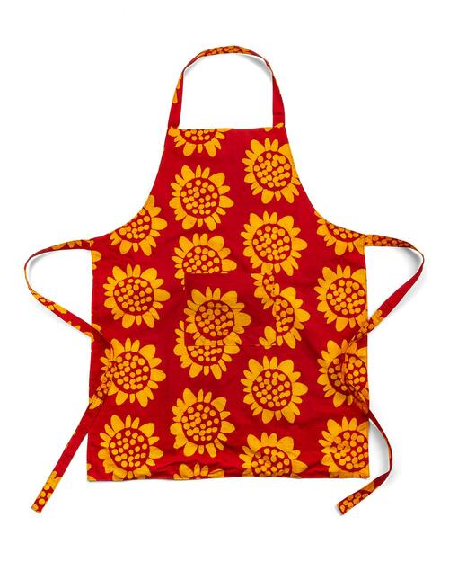 Sunflower Print Apron View Product Image