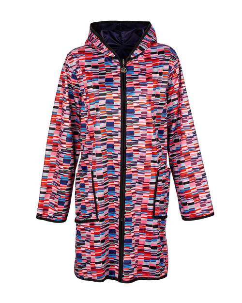 Geometric Reversible Raincoat View Product Image