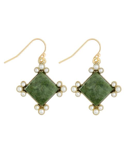Jade Drop Earrings View Product Image