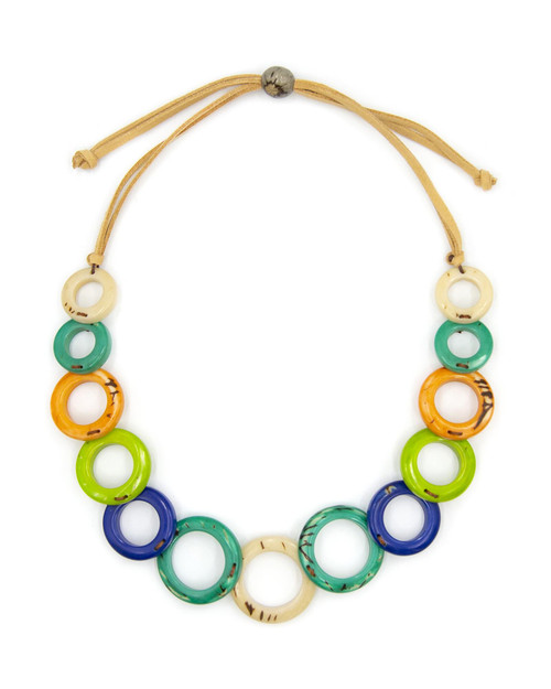 Tagua Nut Circles Necklace View Product Image