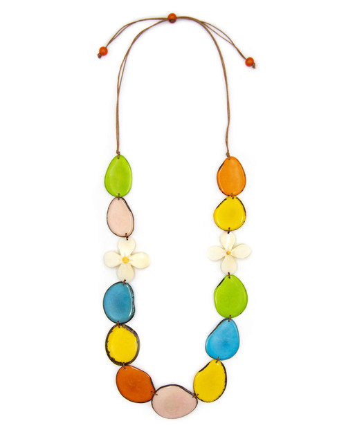 Tagua Nut Camellia Necklace View Product Image