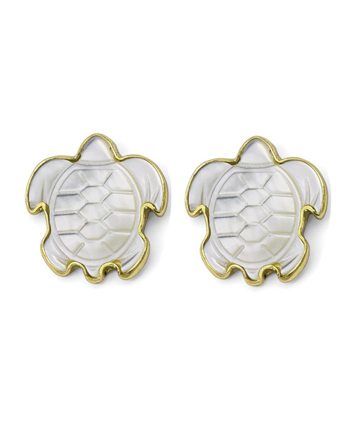 Mother-of-Pearl Turtle Earrings View Product Image